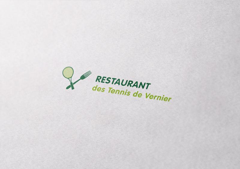 Creation Dun Logo Avec Variantes Horizontale Et Verticale De Cartes Visite Pour Un Restaurant Au Sein Centre Tennis